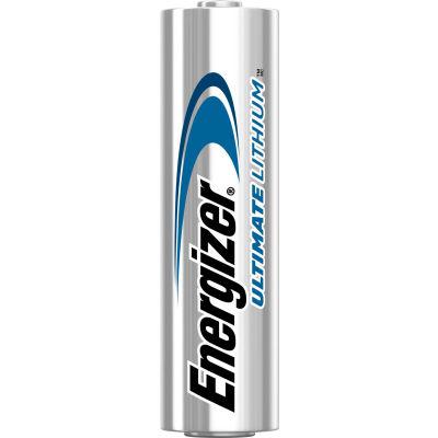 Pack en vrac Energizer L91 Ultimate Lithium AA Batteries, qté par paquet : 24