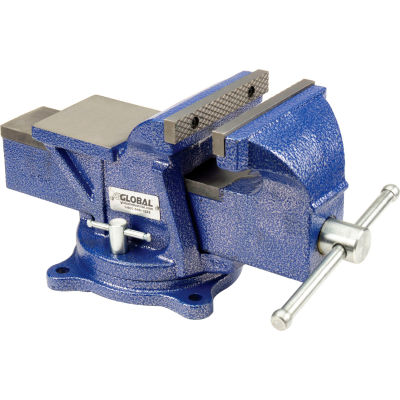 "Global Industrial™ 6"" Jaw Width 3"" Throat Depth General Purpose Bench Vise W/ Swivel Base"