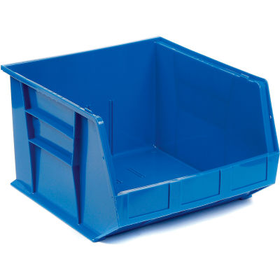 Plastic Stack and Hang Parts Storage Bin 16-1/2 x 18 x 11 Blue - Pkg Qty 3