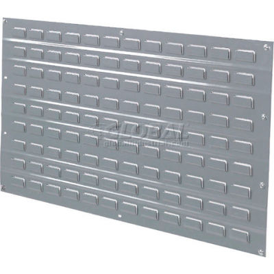 Global Industrial™ Louvered Wall Panel Without Bins 36x19 Gray - Pkg Qty 4