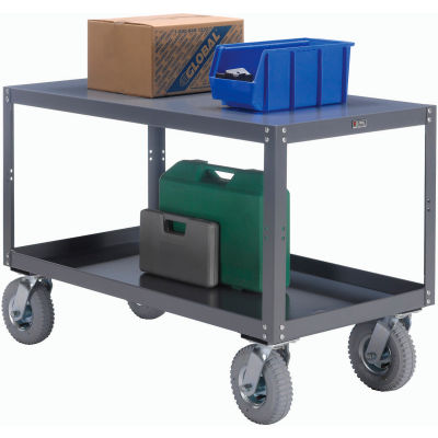 """Global Industrial™ Portable Steel Table, 2 Shelves, 36""""Wx72""""Lx33-1/2""""H, 1200 Lbs. Cap."""