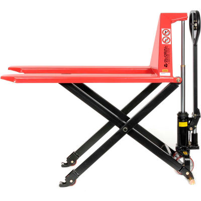 "Global Industrial™ Manual High-Lift Skid Jack Truck, 2200 Lb. Capacity, 27"" x 45"" Forks"