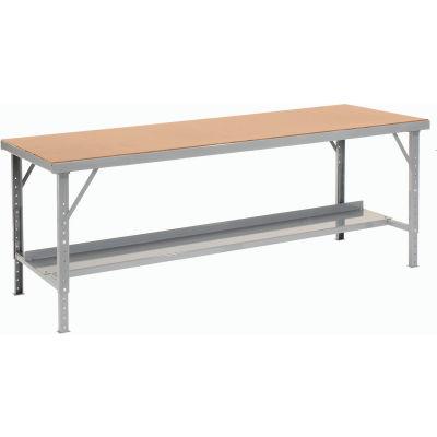 "Global Industrial™ 120""W x 34""D Heavy-Duty Extra Long Assembly Workbench Hardboard Top - Gray"