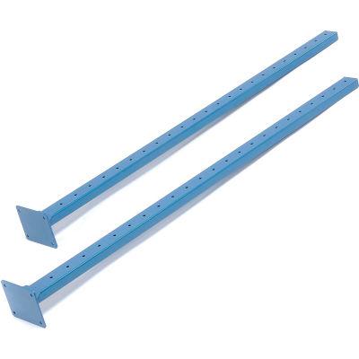 Global Industrial™ Steel Uprights, Blue, 2/Pack