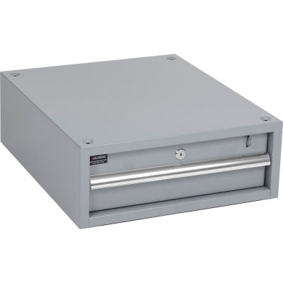 """Global Industrial™ 6""""H Stacking Workbench Drawer, Gray"""