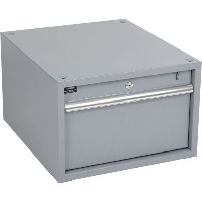 "Global Industrial™ Stacking Workbench Drawer 17-1/4""W x 20""D x 12""H - Gray"