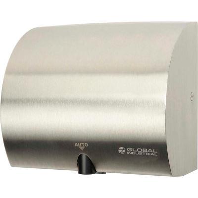Global Industrial™ Sèche-mains automatique à haute vitesse, compatible ADA, acier inoxydable, 120V