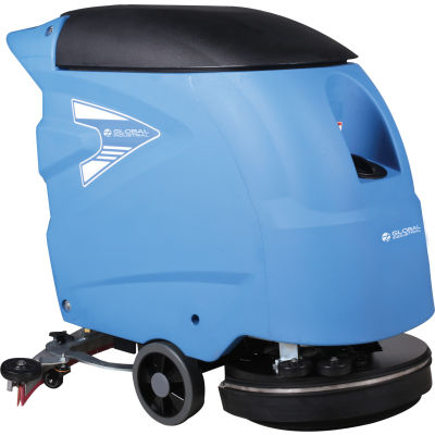 """Global Industrial™ Auto Walk-Behind Floor Scrubber 18"""" Cleaning Path, Deux batteries 115 Amp"""