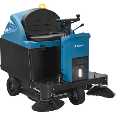 "Global Industrial™ Auto Ride-On Sweeper, 49"" Cleaning Path"