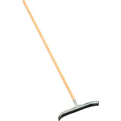 """Global Industrial™ 24"""" Curved Floor Squeegee With Wood Handle - Pkg Qty 4"""