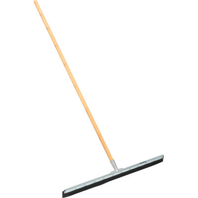 "Global Industrial™ 36"" Straight Floor Squeegee With Wood Handle - Pkg Qty 4"