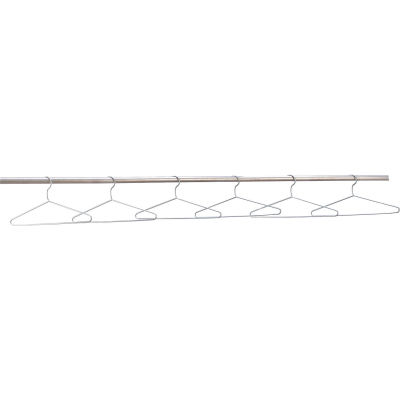Global Industrial™ Coat Hangers Chrome Plated - Pkg of 6 - Pkg Qty 2