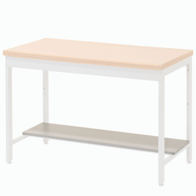 """Global Industrial™ Lower Shelf Plastic Laminate for Euro Bench- 48""""W x 12""""D - Gray"""