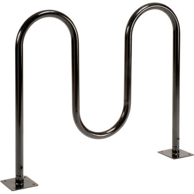 Global Industrial™ 5-Bike Wave Bike Rack, Noir, Flange Mount