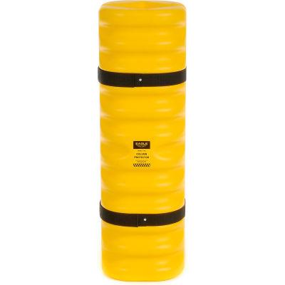 Protecteur de colonne étroite Eagle, ouverture pour colonne de 4 po à 6 po, 13 po diam. ext. x 42 po H., jaune, 1704