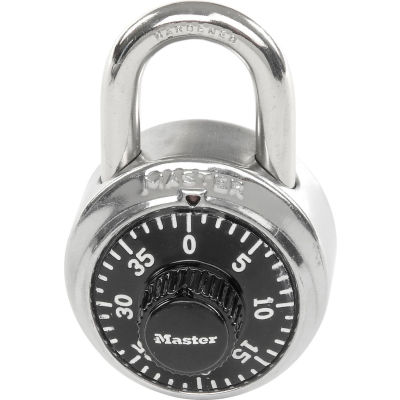 Master Lock® No. 1525STK Combination Padlock Key Access with 1 Control Key & Chart, Price Each - Pkg Qty 50
