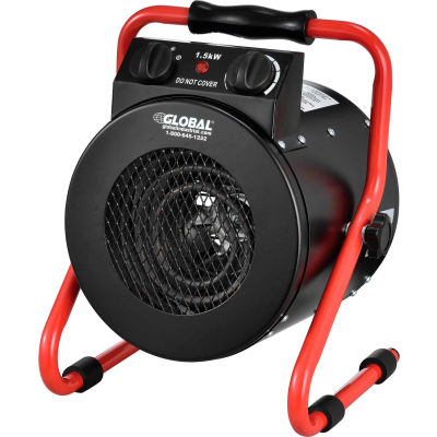 Global Industrial® Portable Electric Garage Space Heater, 1500 W, 120V