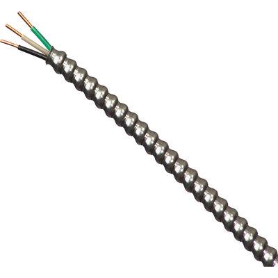 Southwire 68579221 14/2 Awg, Thhn Black/White/Green Aluminum Mc, 25 Ft - Pkg Qty 5