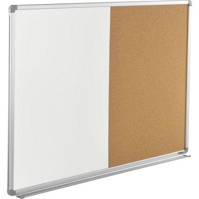 """Global Industrial™ 48""""W x 36""""H Combination Board - Whiteboard/Cork"""
