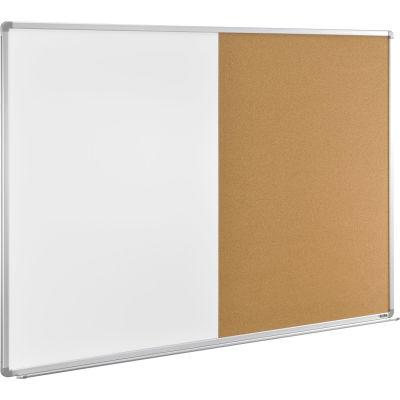 """Global Industrial™ 72""""W x 48""""H Combination Board - Whiteboard/Cork"""