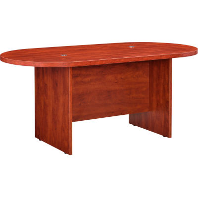 Interion® Racetrack Conference Table, 6'L, Cherry