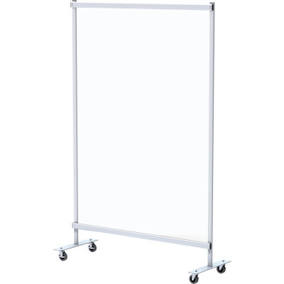 "Global Industrial™ Mobile Clear Room Divider, 48""W x 72""H"