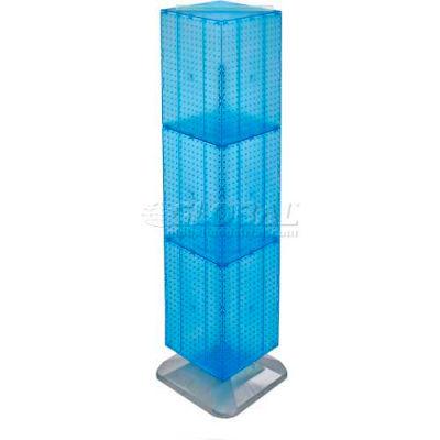 "Azar Displays 701464-BLU 4-Sided Interlocking Pegboard Floor Display, 14"" x 60"", Blue Opaque"