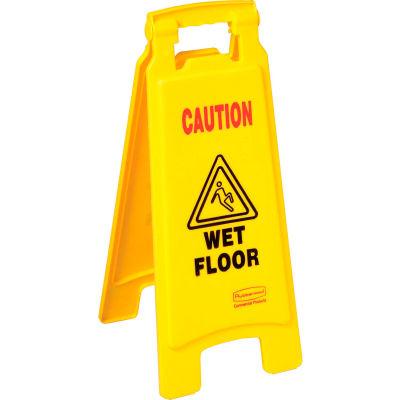 Panneau pour plancherRubbermaid® 6112-77, 2 faces, « Caution Wet Floor »