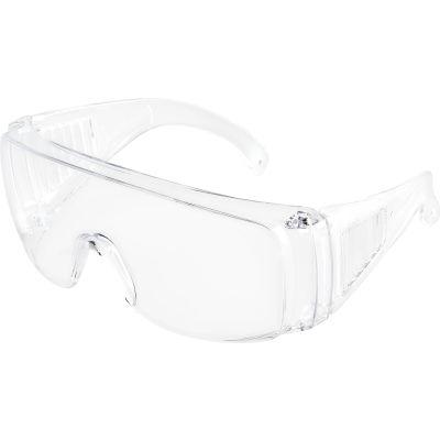 Global Industrial OTG Visitor Safety Glasses, Clear Frame, 1 Each - Pkg Qty 12