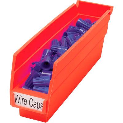 """Akro-Mils Plastic Nesting Storage Shelf Bin 30110 - 2-3/4""""W x 11-5/8""""D x 4""""H Red - Pkg Qty 24"""