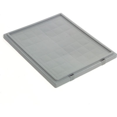 Global Industrial™ Lid LID241 for Stack and Nest Storage Container SNT240, Gray - Pkg Qty 3