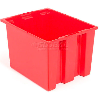 "Akro-Mils Nest & Stack Tote 35240 - 23-1/2""L x 15-1/2""W x 12""H, Red - Pkg Qty 3"