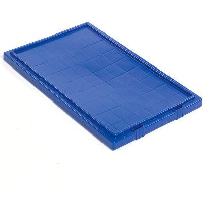 Akro-Mils Lid 35191 For Nest & Stack Tote 35190, 35195, Blue - Pkg Qty 6