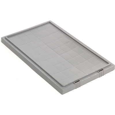 Global Industrial™ Lid LID181 for Stack and Nest Storage Container SNT180, SNT185, Gray - Pkg Qty 6