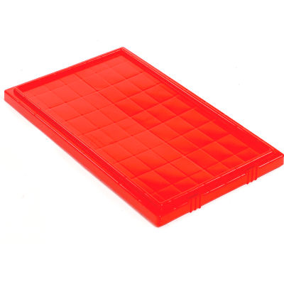 Global Industrial™ Lid LID201 for Stack and Nest Storage Container SNT200, Red - Pkg Qty 6