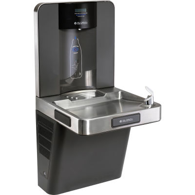 Refrigerated Drinking Fountain with Bottle Filler, Filtered, by Global Industrial™