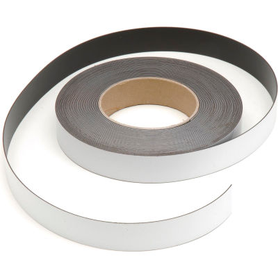 """Magnetic Write-On Label 50 ft X 1""""H Roll"""