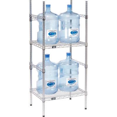 5 Gallon Water Bottle Storage Rack, 4 Bottle Capacity
