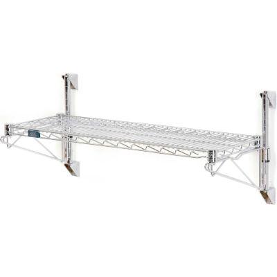 "Nexel® Chrome Wall Mount Wire Shelving 72""W x 18""D x 14""H 1 - Shelf Starter"