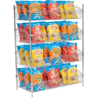 """Nexel® Wire Shelf Basket 36""""W x 24""""D x 63""""H"""