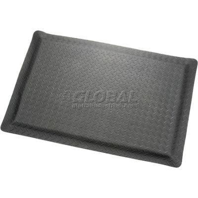 "Apache Mills Diamond Foot™ Diamond Plate Mat 15/16"" Thick 4' x 6' Black"
