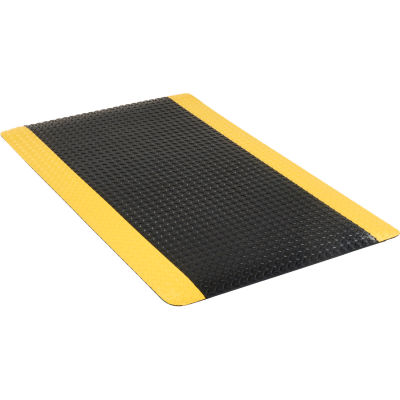 "Apache Mills Diamond Foot™ Diamond Plate Mat 15/16"" Thick 3' x 60' Black/Yellow Border"