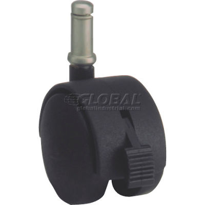 Algood Dual Disc Series Chair Caster with Nylon Locking Wheel 03T4-050-437SX7/8-B - Stem Type E