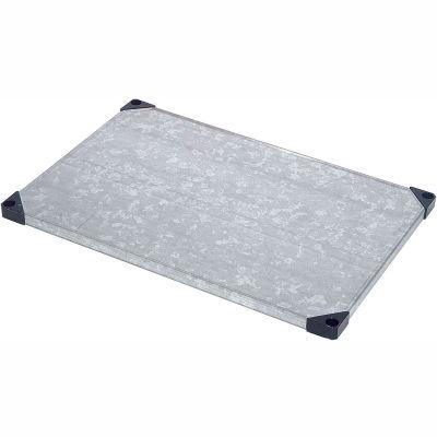 """Nexel® S1848SZ Solid Galvanized Shelf 48""""W x 18""""D"""