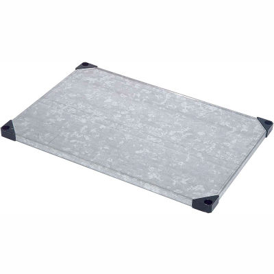 """Nexel® S2472SZ Solid Galvanized Shelf 72""""W x 24""""D"""
