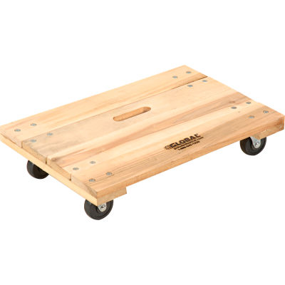 Global Industrial™ Hardwood Dolly with Solid Deck 24 x 16 1000 Lb. Capacity