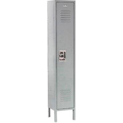 """Global Industrial™ Infinity® Single Tier 1 Door Locker, 12""""Wx15""""Dx60""""H, Gray, Unassembled"""