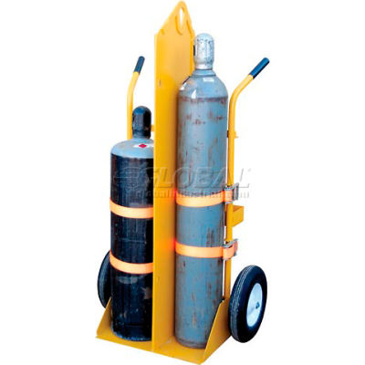 Welding Cylinder Cart CYL-EH Pneumatic Wheels 34-1/4 x 23 x 66-3/8