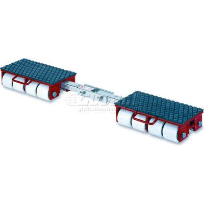 GKS Perfekt® F18 Machinery Roller Dolly Rigid Plates, Adjustable Width Connector Bar 39,600 Lb.