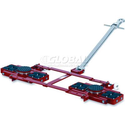 GKS Perfekt® TL12 Tandem Roller Dolly Swivel Plates, Adjustable Width Frame 26,400 Lb. Cap.